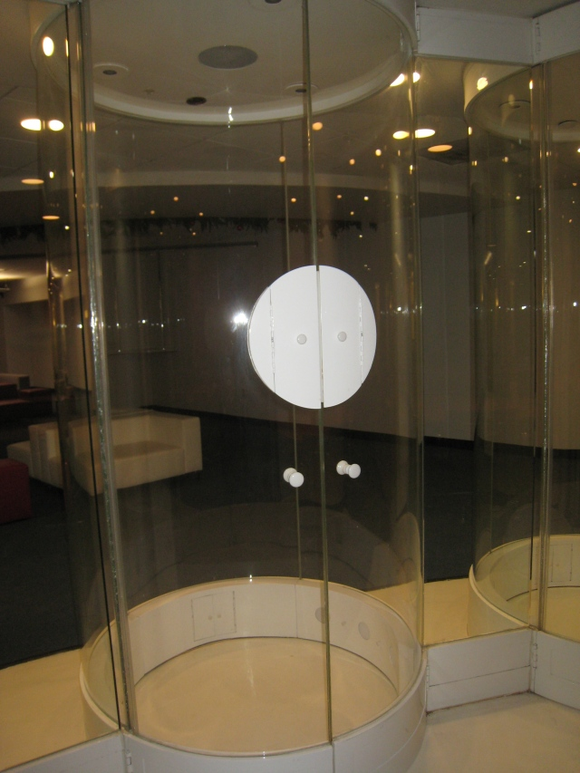 Scent chamber near a conference room