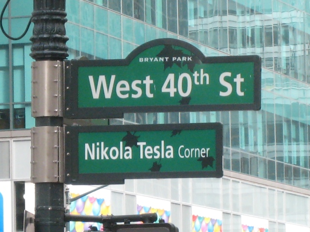 40th and Tesla - No Corner Cooler in This Universe!
