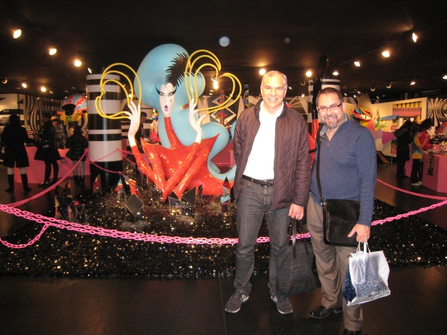 Lady Gaga, Kevin Guyer, and Neil Sternberg Pose During Fragrance Shopping