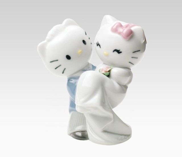 "The happy couple - ""Dear Daniel"" and Hello Kitty"
