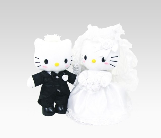"Wedding Picture - ""Dear Daniel"" and Hello Kitty"