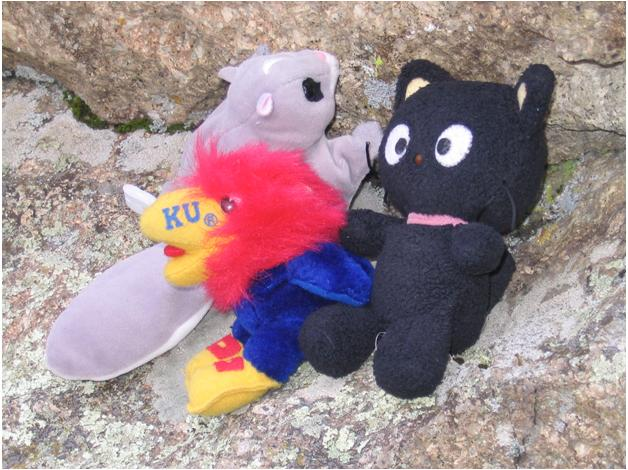 Chococat and his climbing buddies