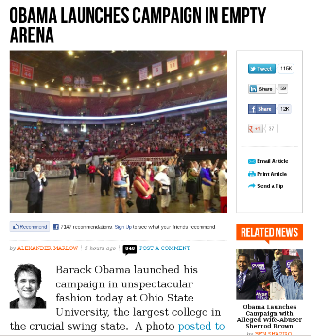 Obama Columbus Rally a la Breitbart