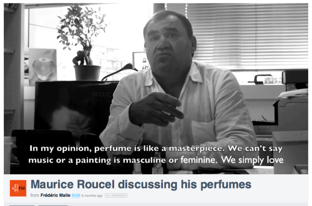 Maurice Roucel discussing his perfumes